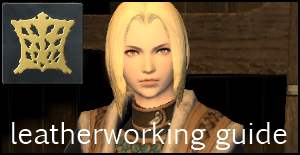 leatherworker guide ffxiv arr crafting