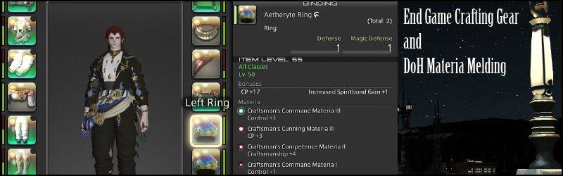 FFXIV Crafting Gear for 4 Star
