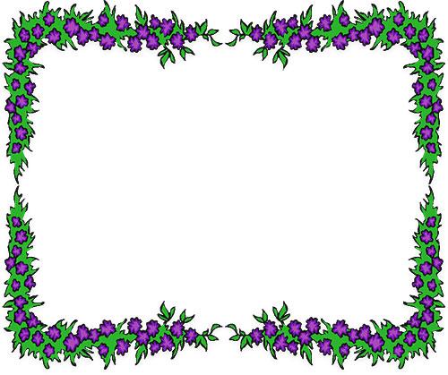 Free Flower Borders - Flower Border Clipart - green photo frame