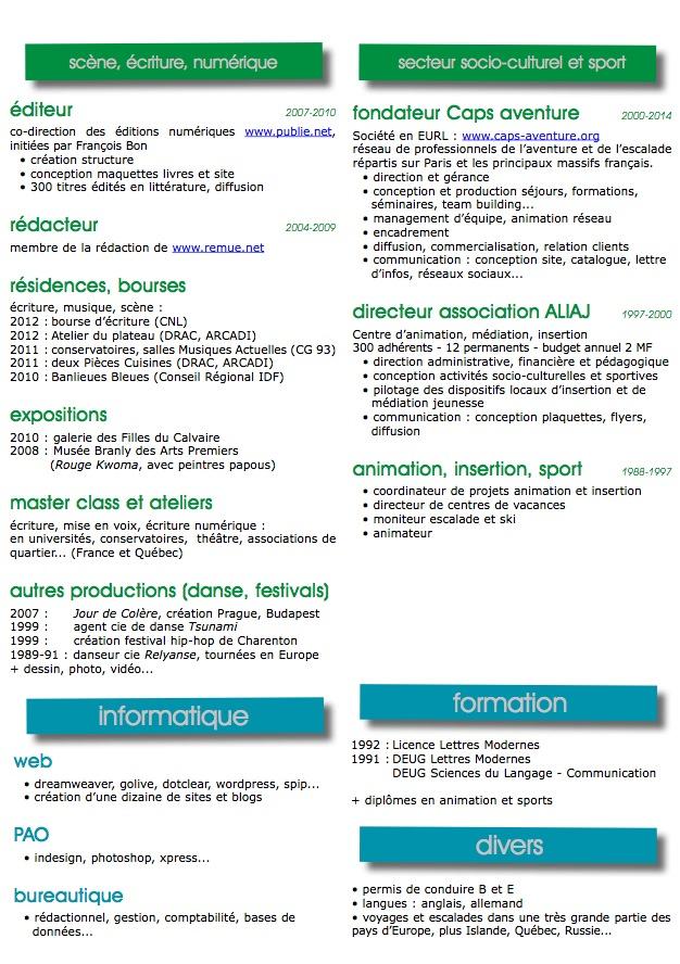 competences cv bio