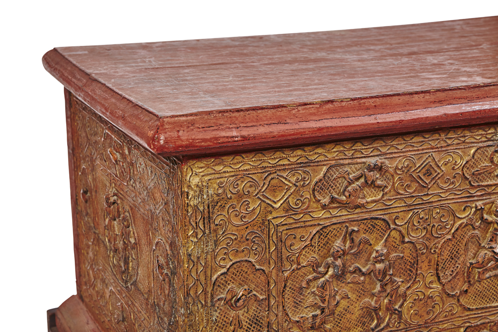 Frank Souder Collections Wooden Burmese Bible Storage Box