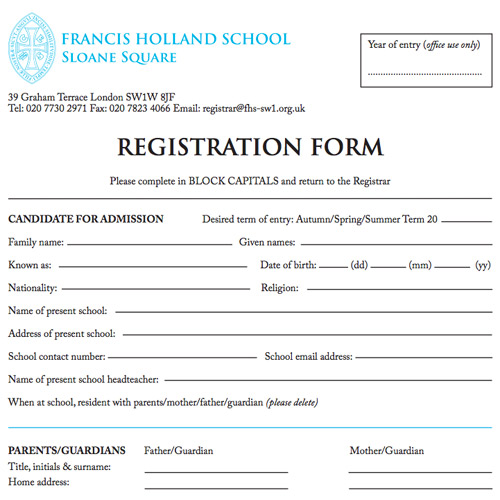 Admissions Francis Holland School Sloane Square