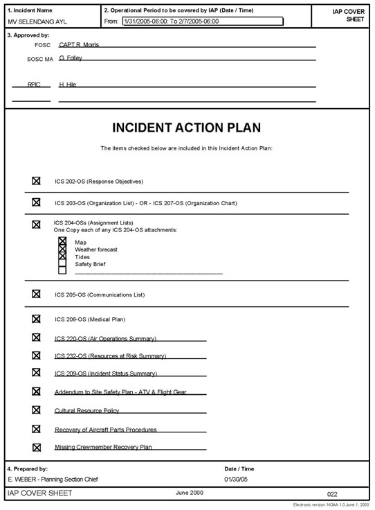 The National Incident Management System u2013 A Workbook for State - incident action plan