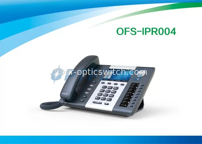 2x 10 / 100 / 1000Mbps 6 Lines WIFI SIP Phone , 3 Way Conference