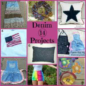 14 Denim Craft Projects!
