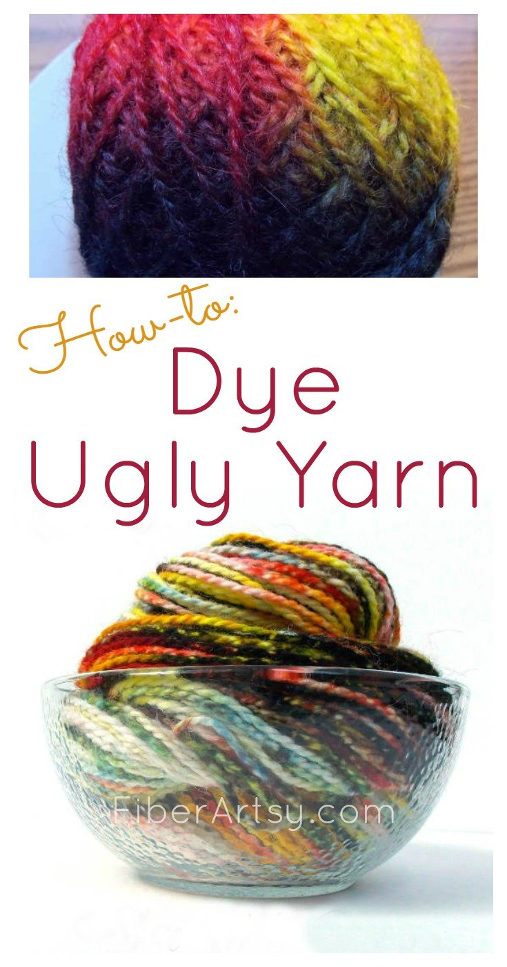 How to Dye Ugly Yarn A FiberArtsy.com tutorial