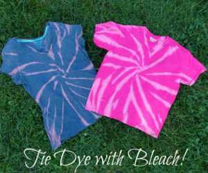 Tie Dyeing Shirts with Bleach