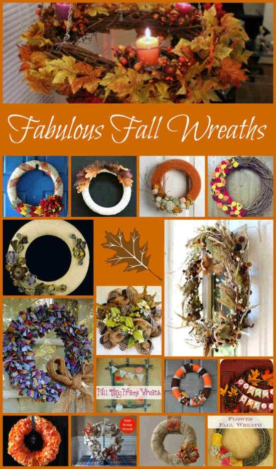 Fall Wreath Ideas, Fiberartsy.com