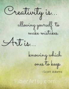 Creativity is ….