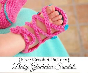 Free Crochet Patterns for Baby Gladiator Sandals