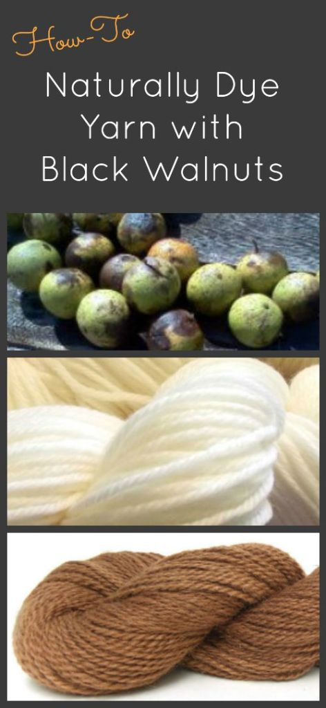 Yarn dyed with black walnuts