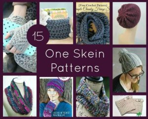 15 One Skein Patterns for Knit and Crochet