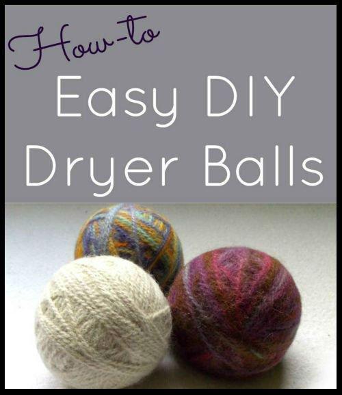Knitting Pattern For Wool Dryer Balls : Easy DIY Felted Dryer Balls