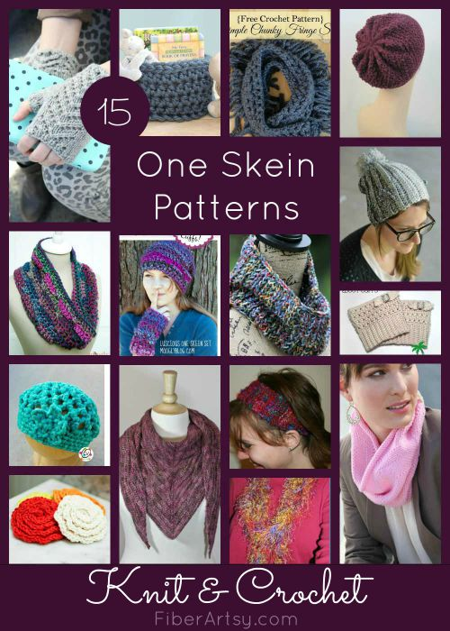 15 One Skein Patterns for Knit & Crochet, FiberArtsy.com