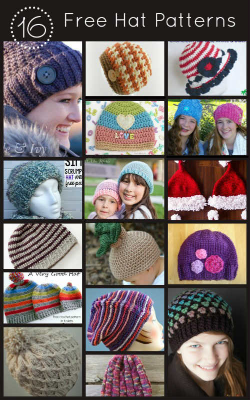 16 Free Hat Patterns for Knit and Crochet, FiberArtsy.com