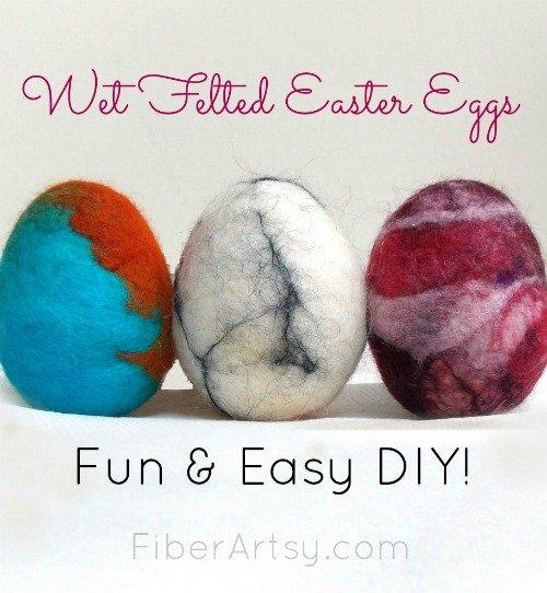 How to Make Wet Felted Easter Eggs, FiberArtsy.com