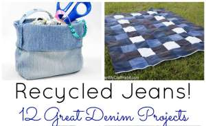 Recycled Jeans! 12 Denim Craft Projects