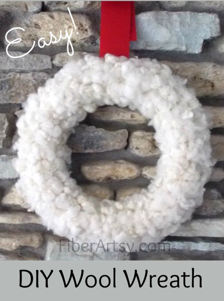DIY Wool Wreath, A FiberArtsy.com Tutorial