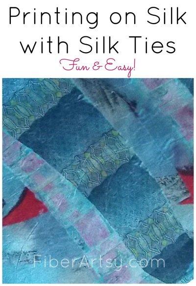 Printing with Silk Ties FiberArtsycom-collage 800