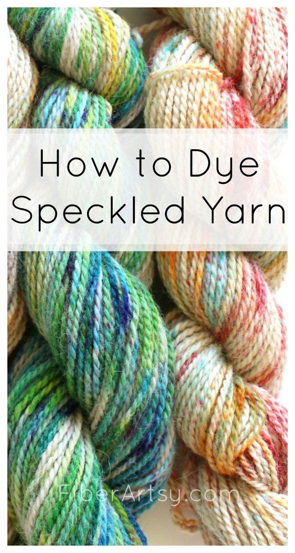 How to Speckle Dye Yarn - a FiberArtsy.com tutorial
