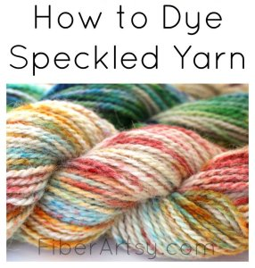 How to Dye Speckled Yarn
