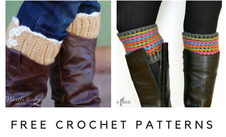 Free Boot Cuff Patterns For Crochet By Fiberartsy
