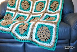 Sand and Surf Crochet Throw