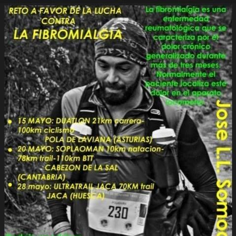 Reto a favor de la lucha contra la Fibromialgia, José Luis Somoano