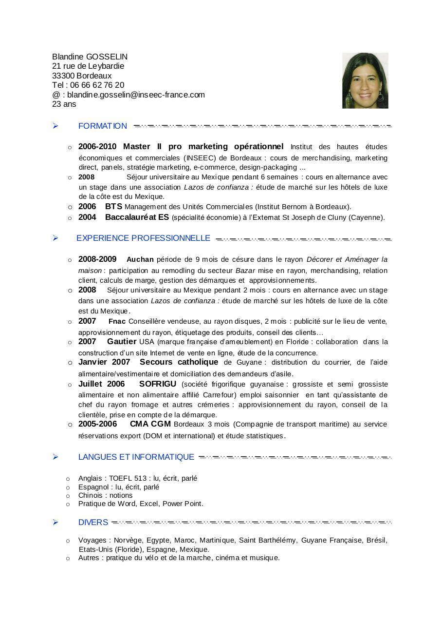 pdf le cv
