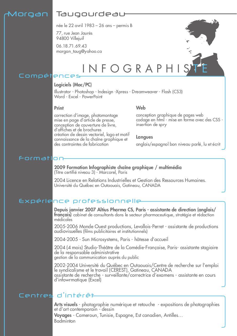 cv 11 indd cv morgan infographiste pdf