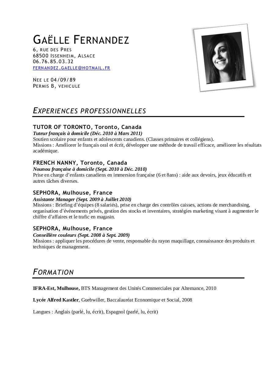 baccalaureat economique et social en anglais cv