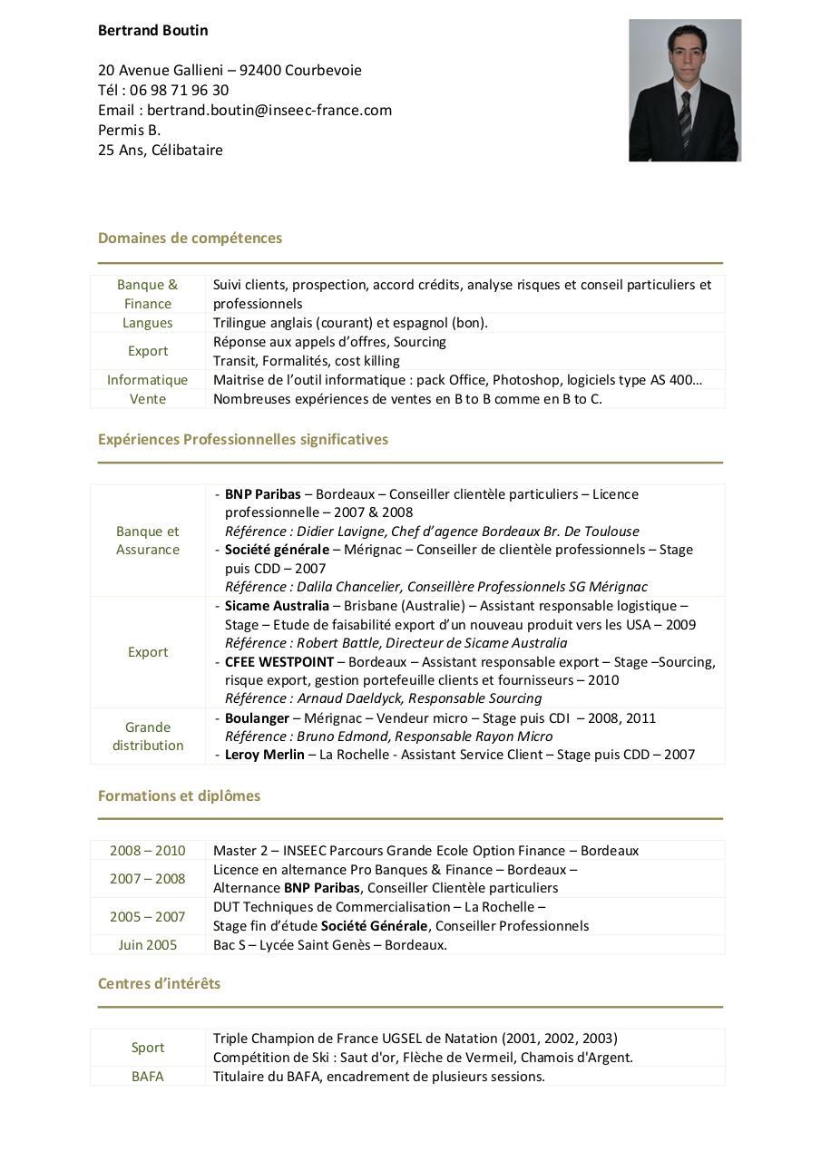conseiller professionnels bnp cv linkedin