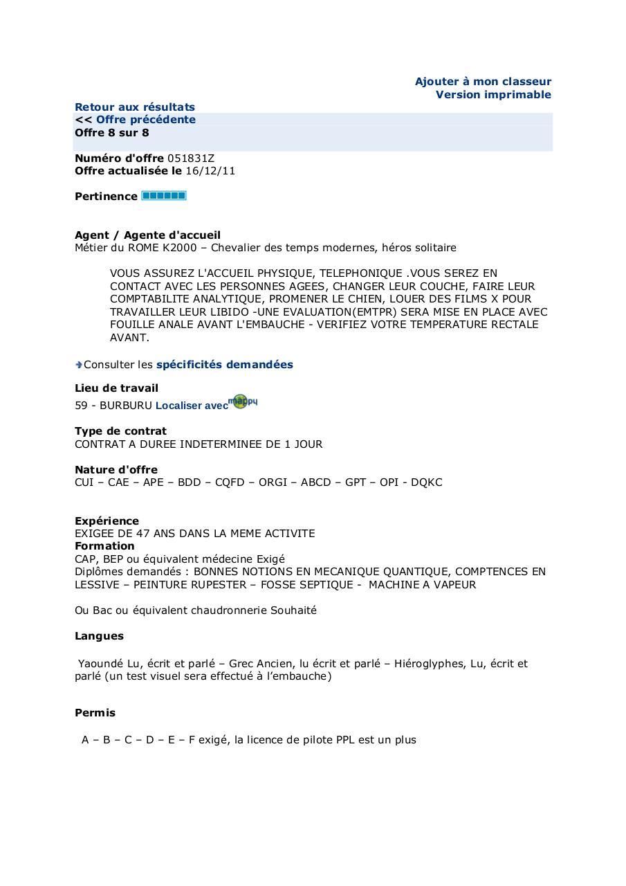 cv pdf pole emploi