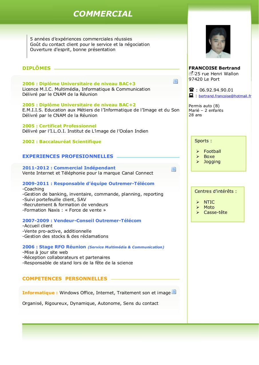 competences site internet cv