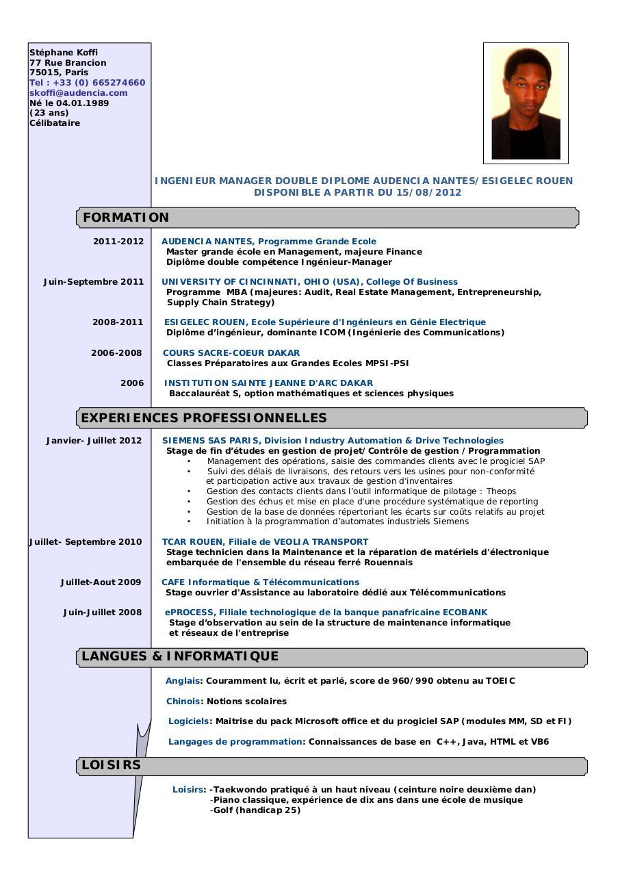 cv stage laboratoire recherche