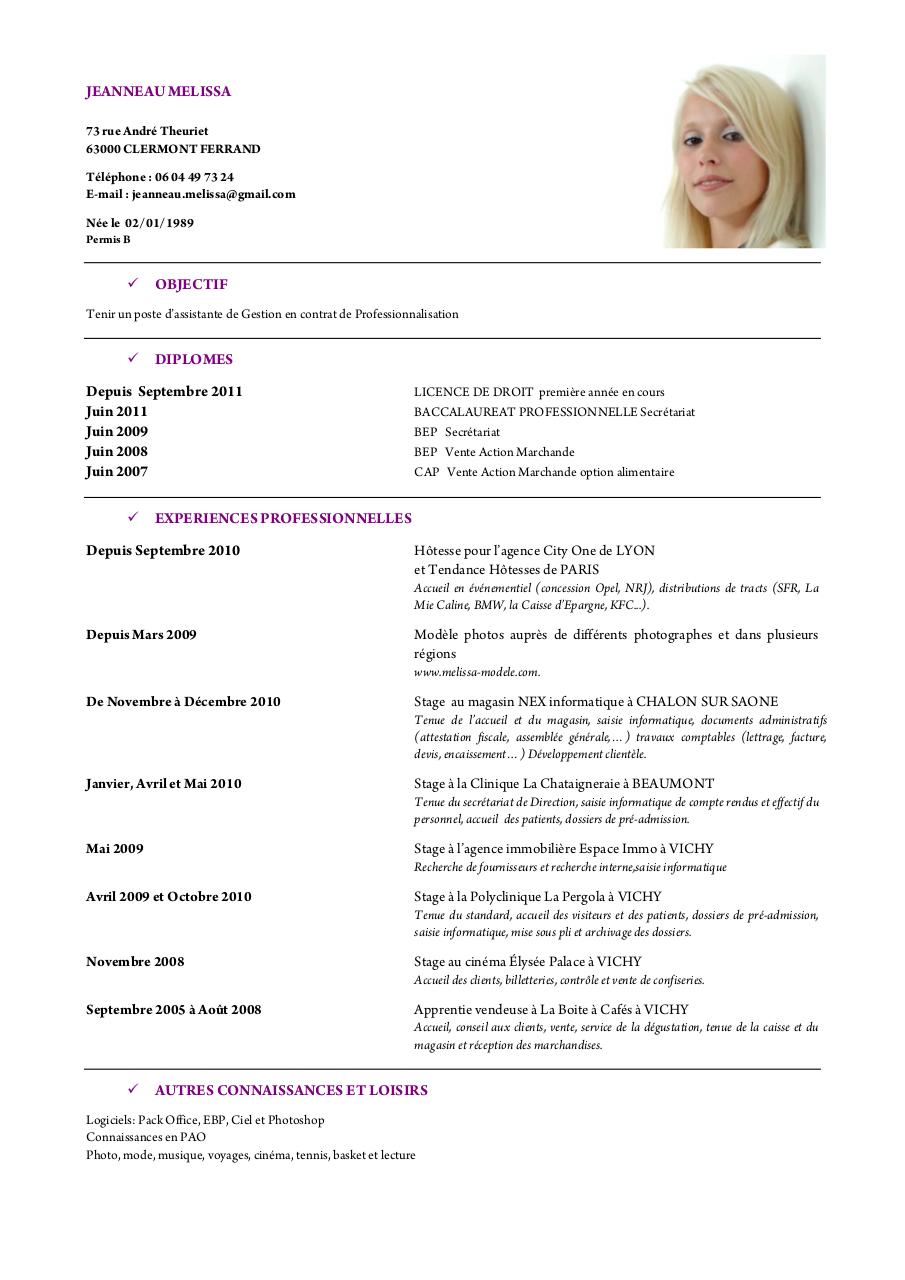 cv original vendeuse
