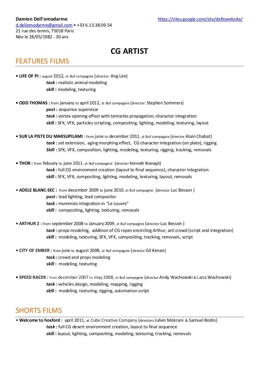 poster cv pdf sur linkedin