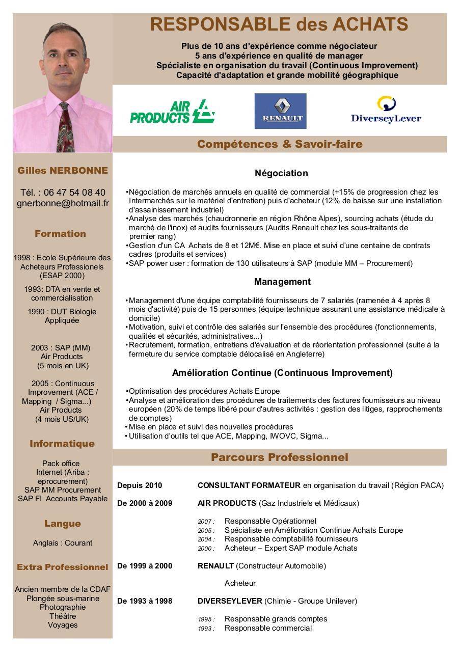 cv responsable grands comptes