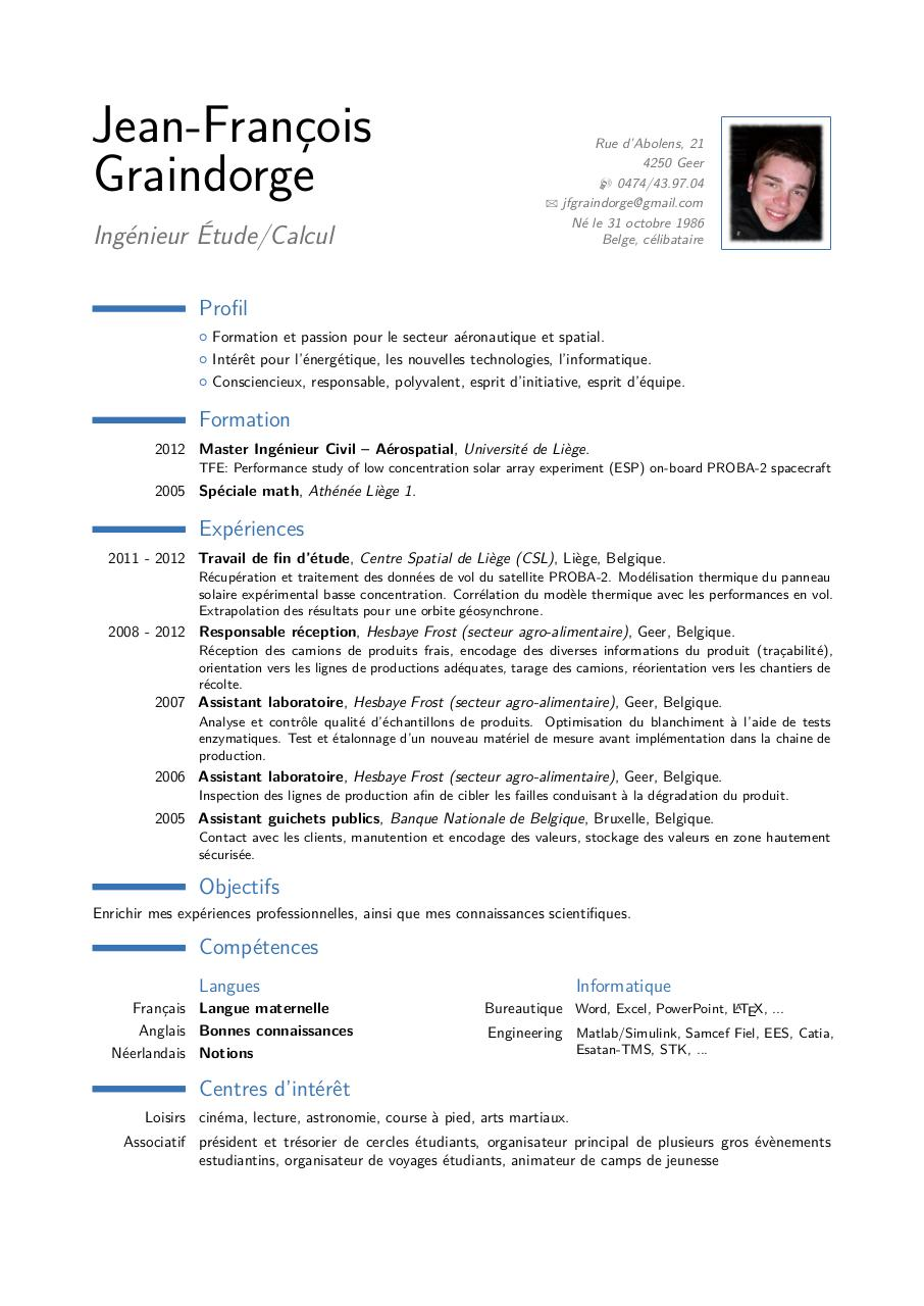 notions informatique cv