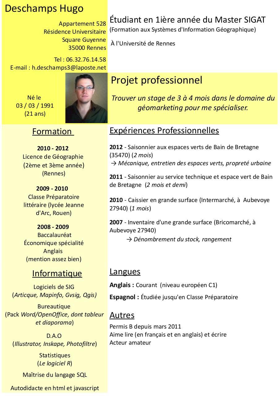 traduire classe preparatoire anglais cv