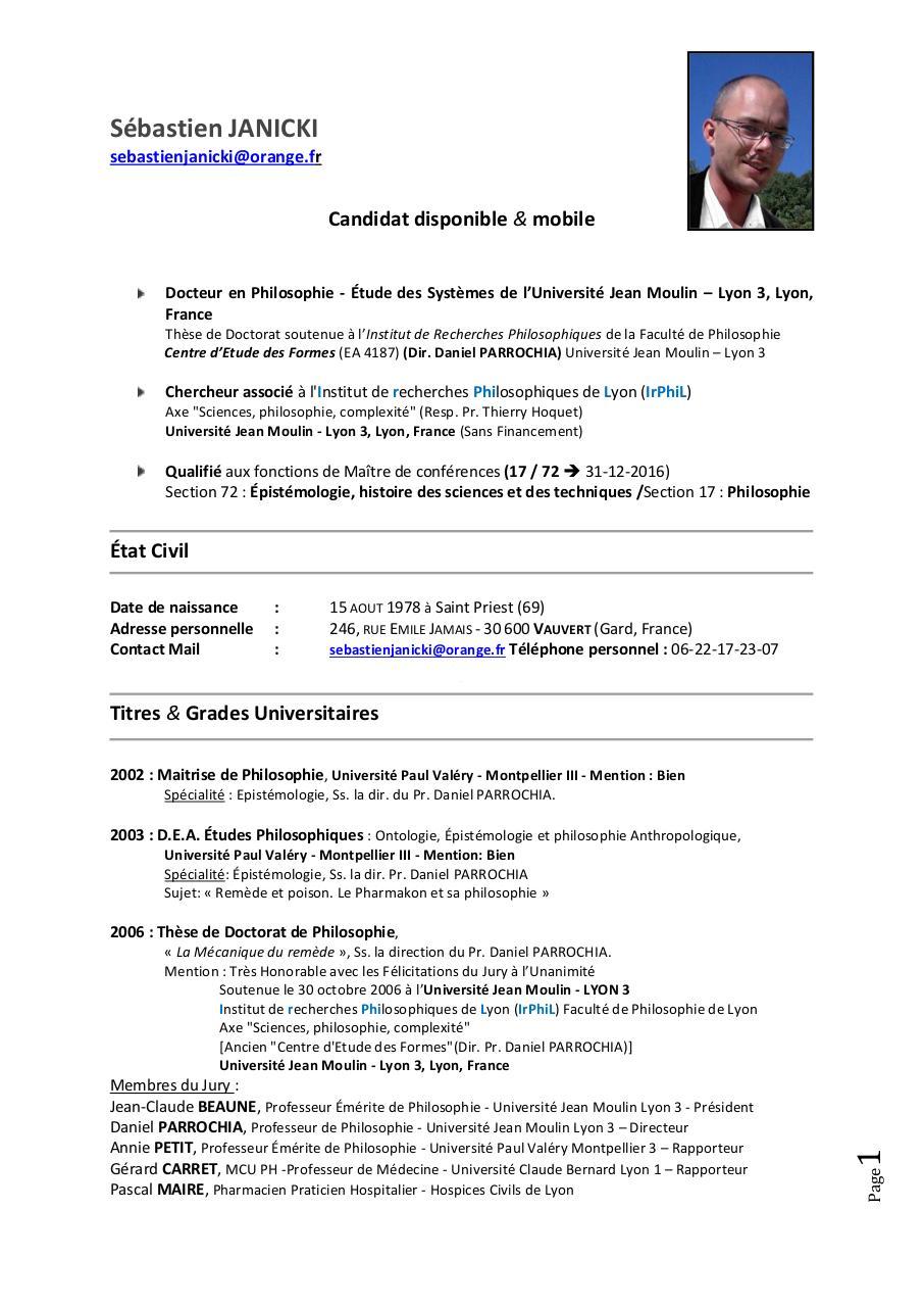 cv chercheur pdf