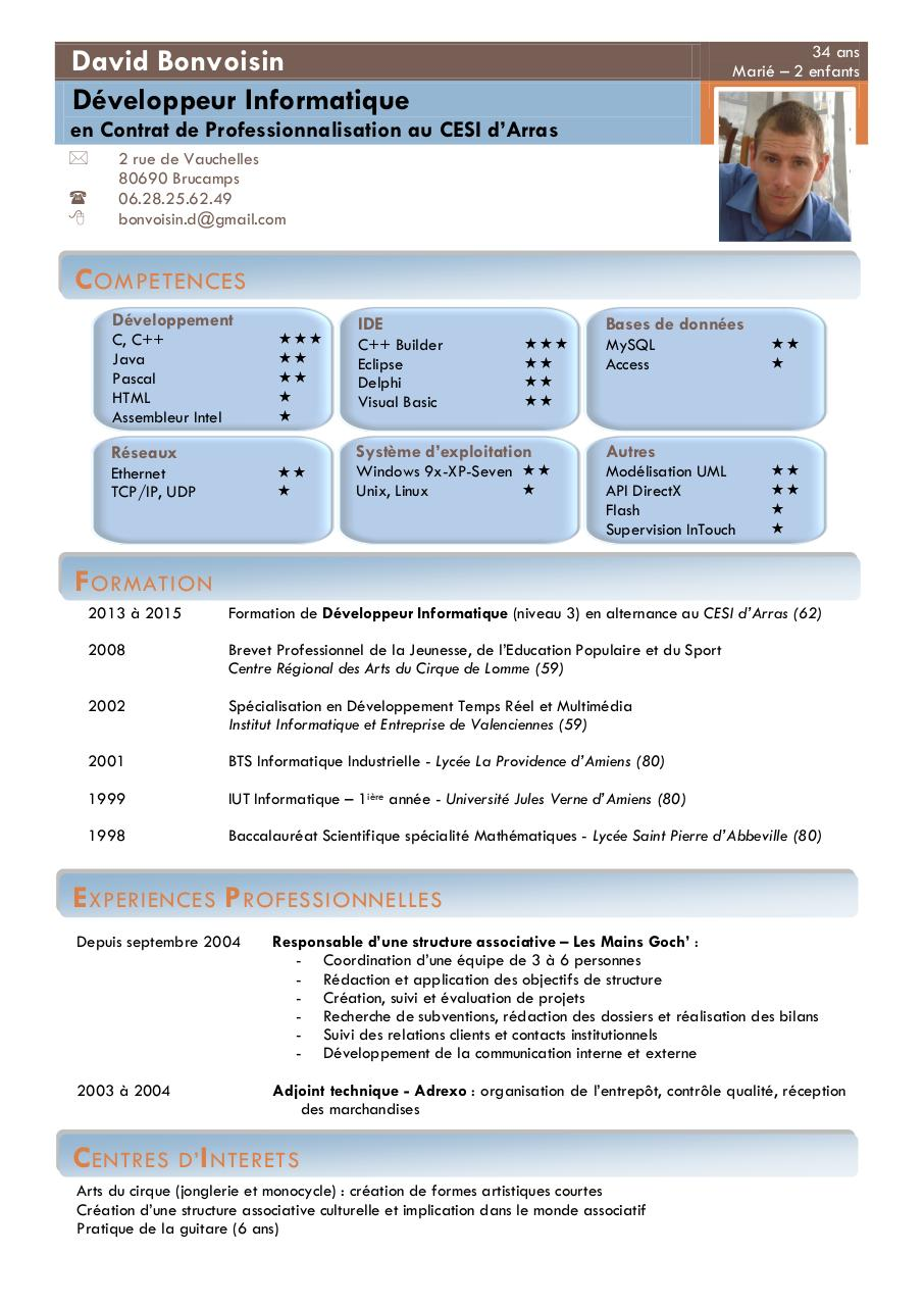 application pour faire de cv