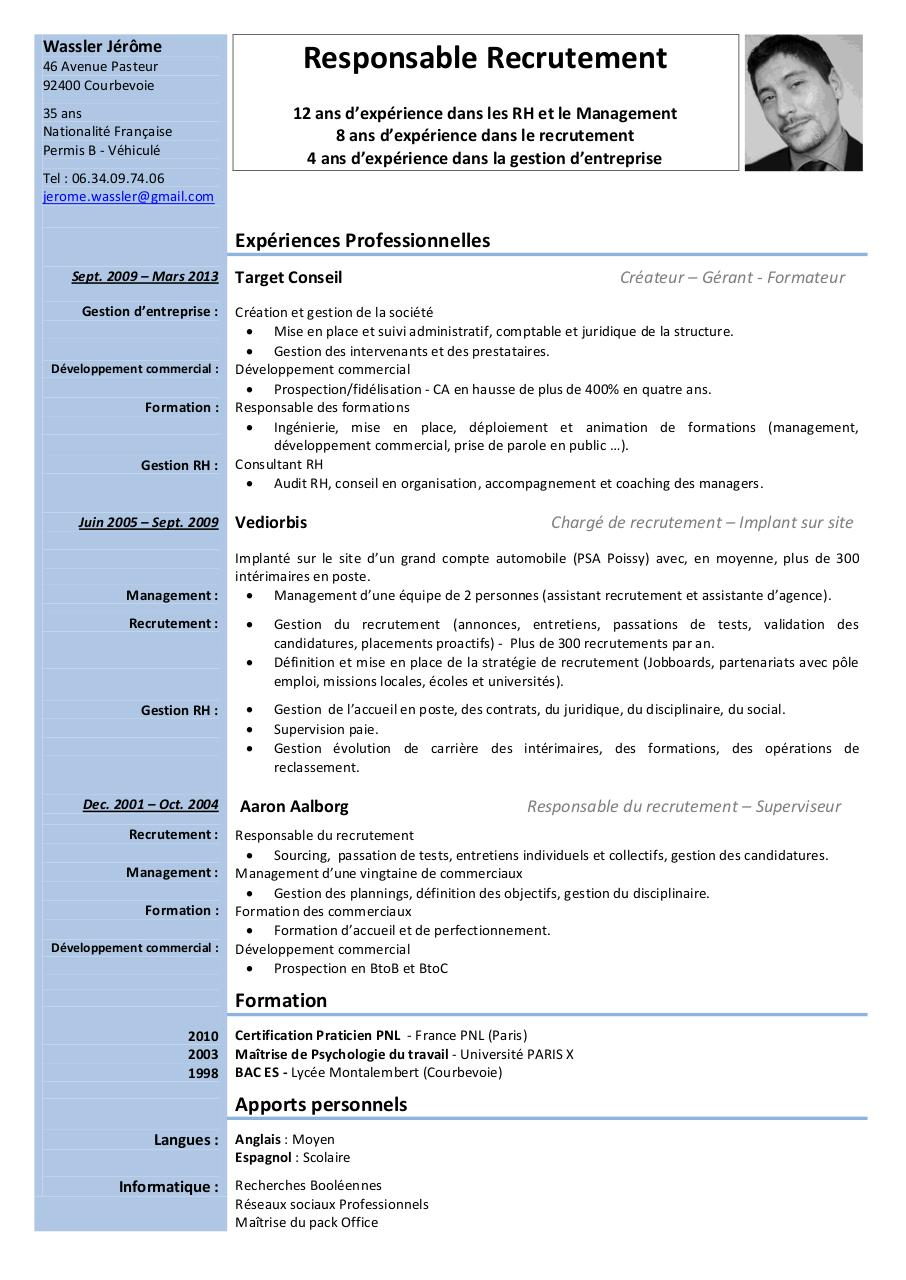 exemple cv negociateur technico commercial