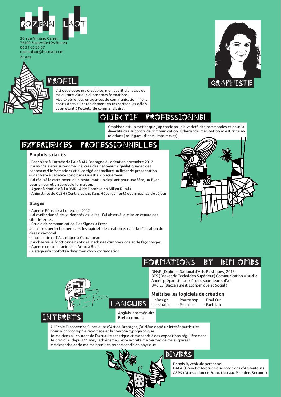 cv aide a domicile pdf