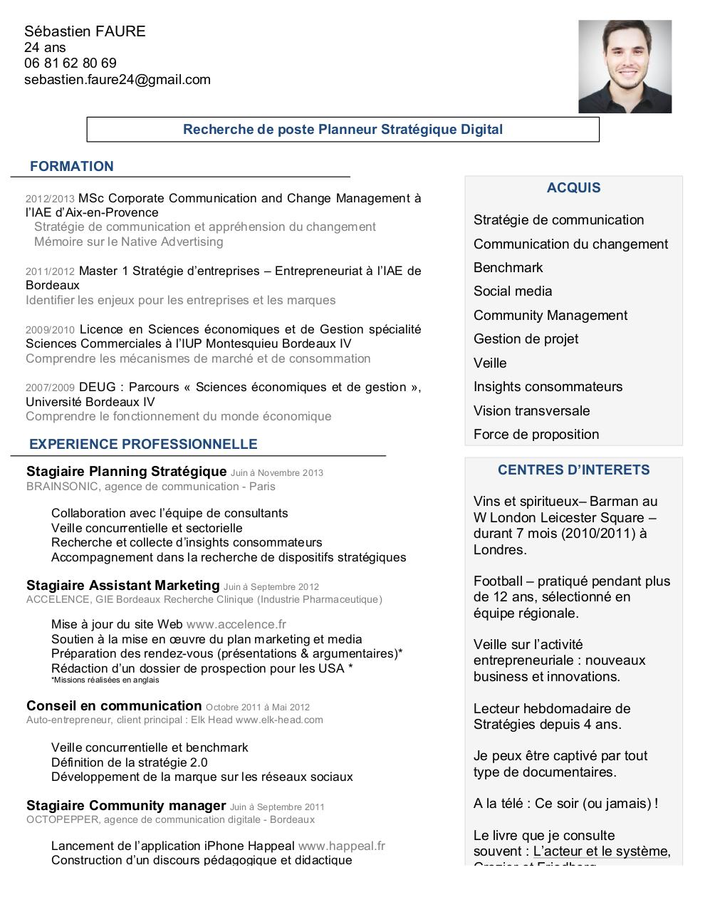 application pour faire un cv iphone