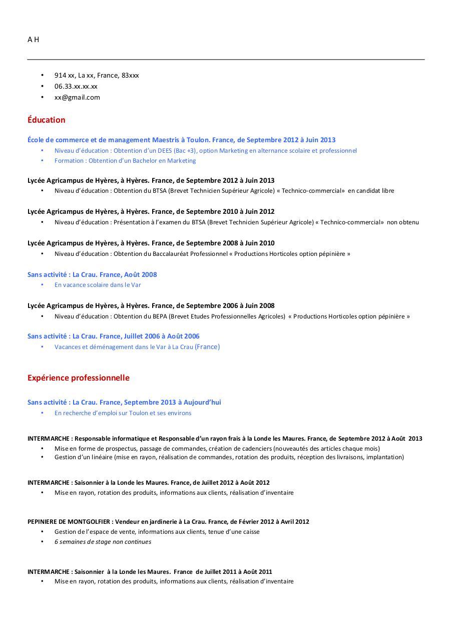 cv canadien pdf