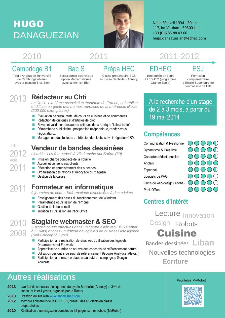 creation de cv avec competences