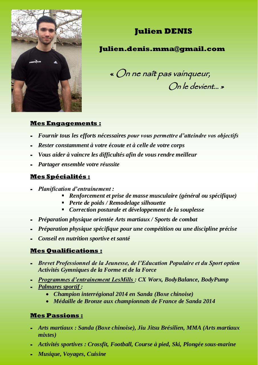 cv coach sportif pdf