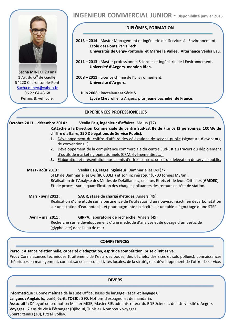 cv pdf master informatique mandarin