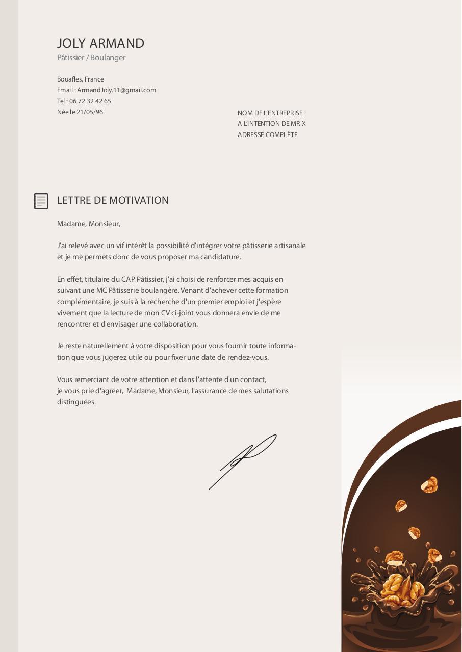 cv et lettre motivation pdf